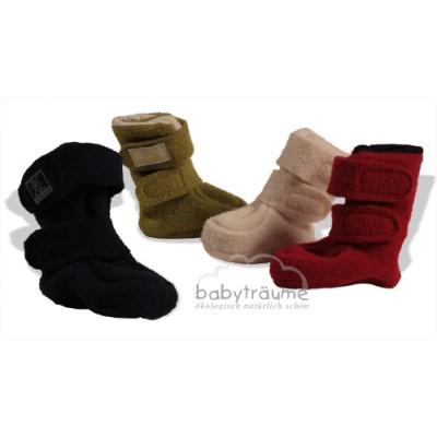 Klett-Stiefelchen mit super Sitz für warme Füße und Waden, blau, marine, natur, grün oder rot, 100% Wolle