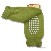 """Krabbelhilfe + Knieschoner-""""Stopper-Stulpen"""" zum Krabbeln aus dickem Wollplüsch, 100% Wolle (kbT) - wärmen und schützen Knie und Unterschenkel"""