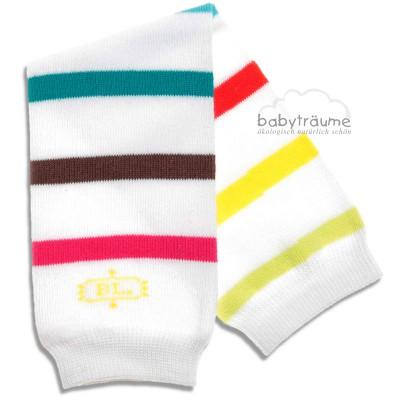 """BabyLegs """"Jelly Bean"""", 78% Baumwolle/20% Polyester/2% Elasthan, weiß mit Streifen, Größe OneSize"""