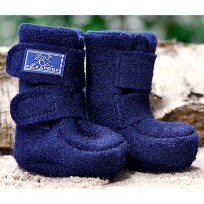 """Klett-Stiefelchen """"Walk-marine"""" mit super Sitz für warme Füße und Waden, 100% Wolle, Futter 100% Baumwolle (kbA)"""