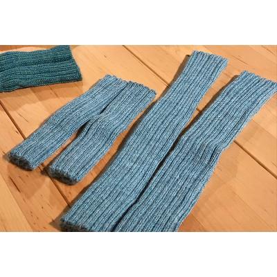 """Stulpen """"gletscherblau 15cm oder 30cm"""" bzw. Pulswärmer aus 100% Wolle (Baby-Alpaca)- gaaaanz weich und kuschelig"""