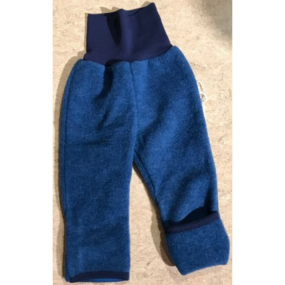"""Wollfleece-Hose """"dunkel-jeans"""" mit angenehmen Baby-Bündchen 96% Baumwolle und 4% Elasthan, 100% Wolle, Lieferumfang: 1 Hose"""