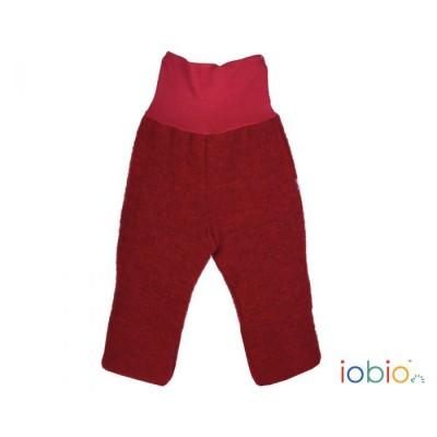 """Wollfleece-Hose """"rot"""" mit angenehmen Baby-Bündchen 96% Baumwolle und 4% Elasthan, 100% Wolle, Lieferumfang: 1 Hose"""