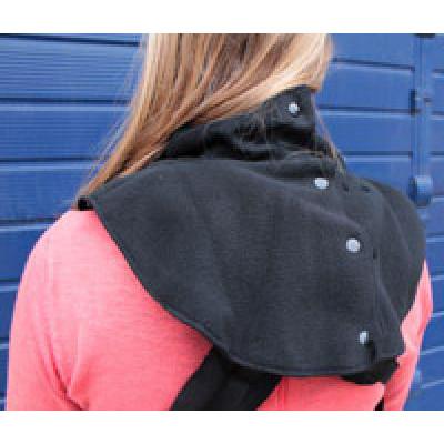 """Doppel-Schal """"schwarz - Double Dickey Fleece - für warme Hälse von Träger und Tragling, weitenverstellbar"""", schwarz - manduca by MaM, Fleece-Material: 100% Polyester"""